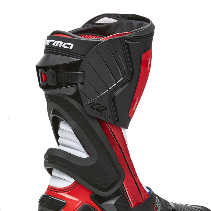 motorcycle boots | Forma Ice Pro Flow, racing motogp petrucci red heat protection