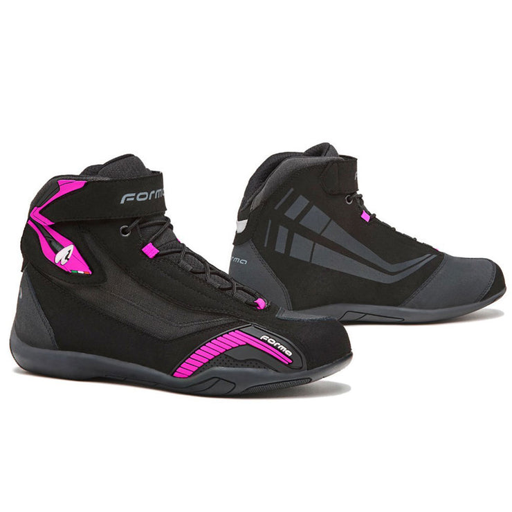 Forma Genesis Lady motorcycle boots, black fuchsia womens
