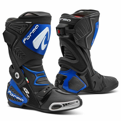 motorcycle boots | Forma Ice Pro racing black blue home usa support factory