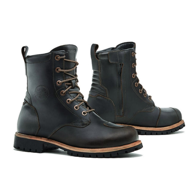 Forma Legacy motorcycle boots, brown urban city