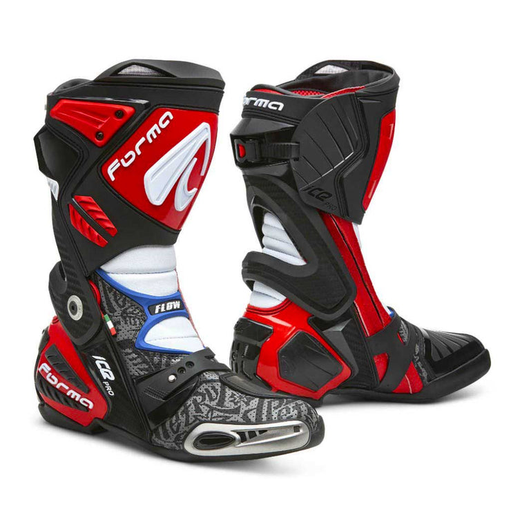 Forma motorcycle boots, ice pro flow, racing motogp petrucci