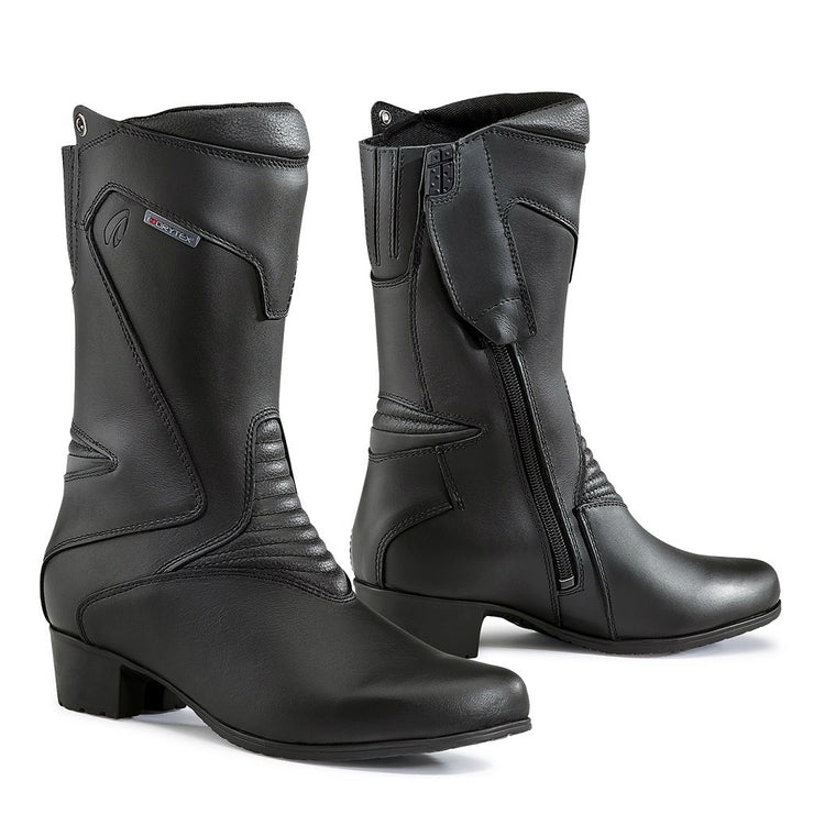 Forma Ruby womens black motorcycle boots