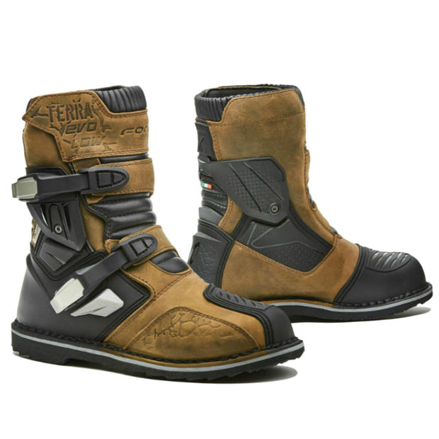 Forma Terra Evo Low motorcycle boots, brown
