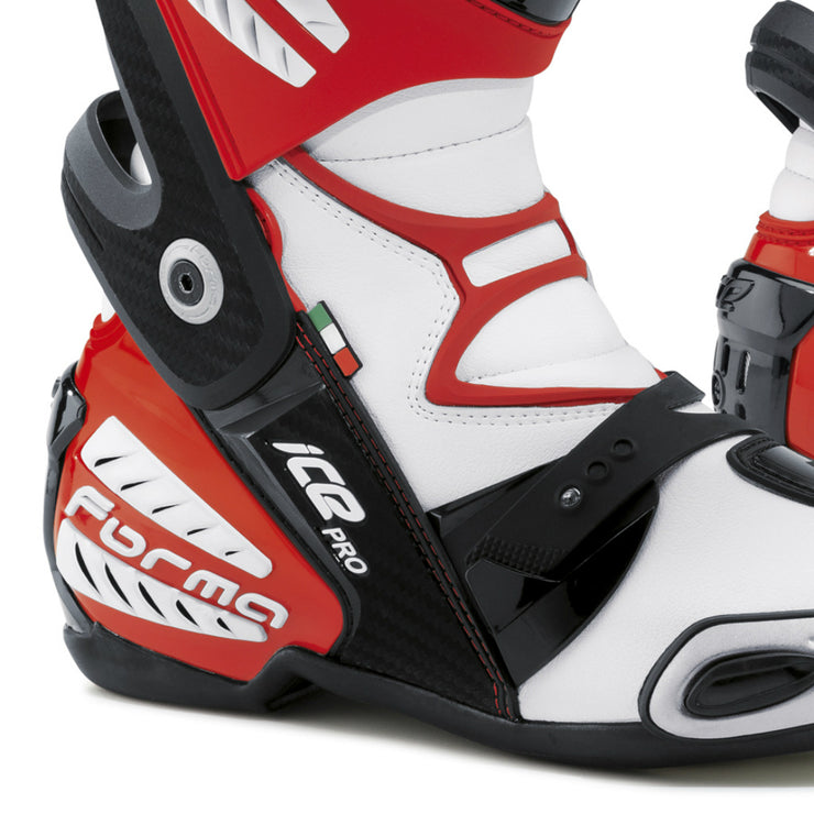 forma ice pro motorcycle boots red heel ankle protection