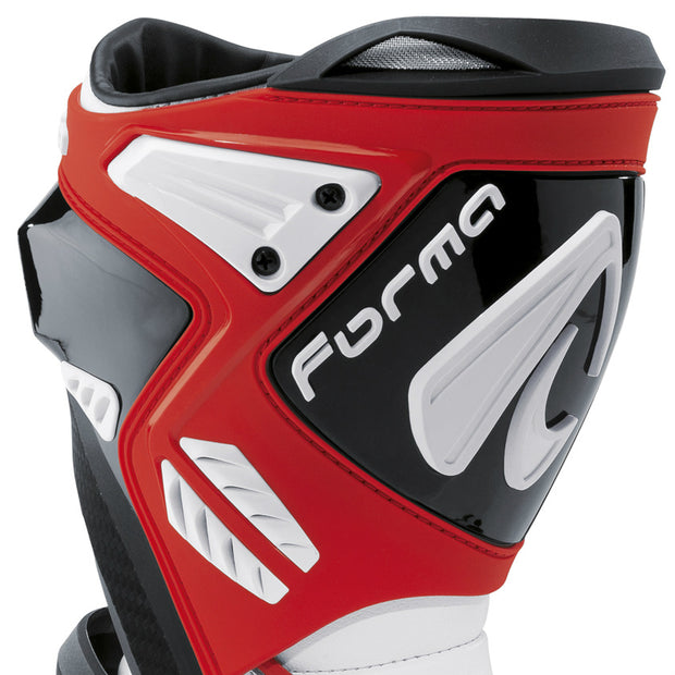 forma ice pro motorcycle boots red shin protection