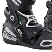 forma ice pro flow motorcycle boots black ankle heel protection