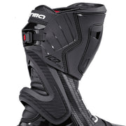 forma ice pro flow motorcycle boots black zip velcro ratchet closure