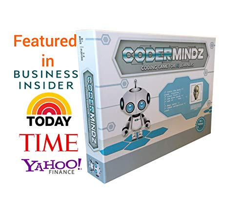 CoderMindz Game for AI Learners! NBC Featured: First Ever Board Game for Boys and Girls Age 6+. Teaches Artificial Intelligence and Computer Programming Through Fun Robot and Neural Adventure!