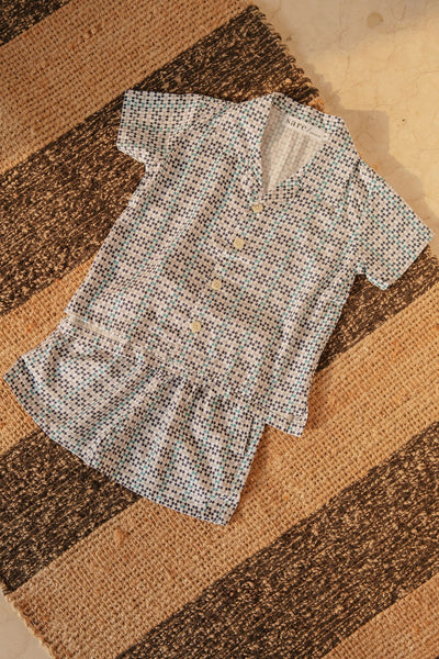 Mappi Mariri Kids Set In Blue Scallop