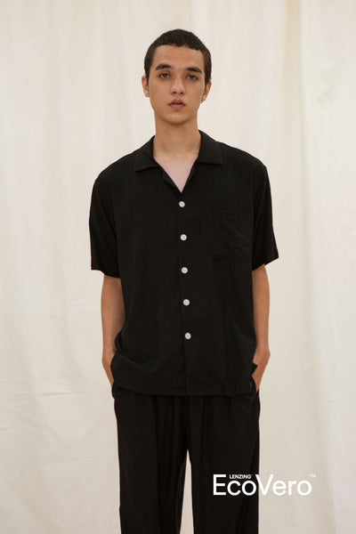 Mappi Men Short Sleeve Top in Black