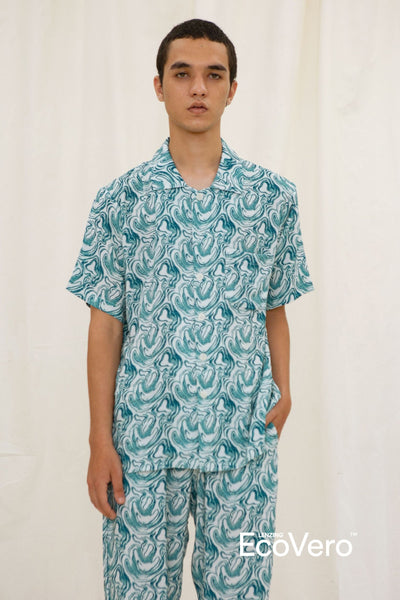 Mappi Men Short Sleeve Top in Wave
