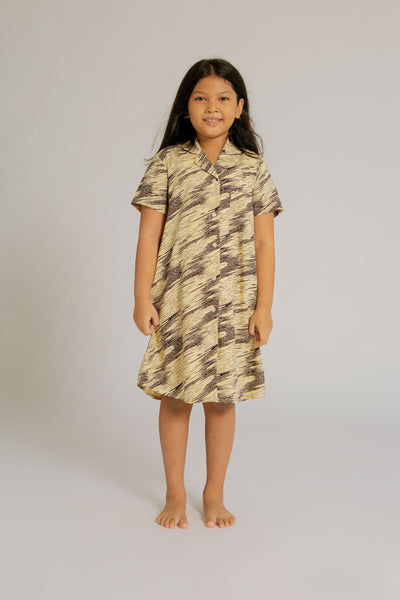 Maje Kids Pajama Nightdress in Zebra
