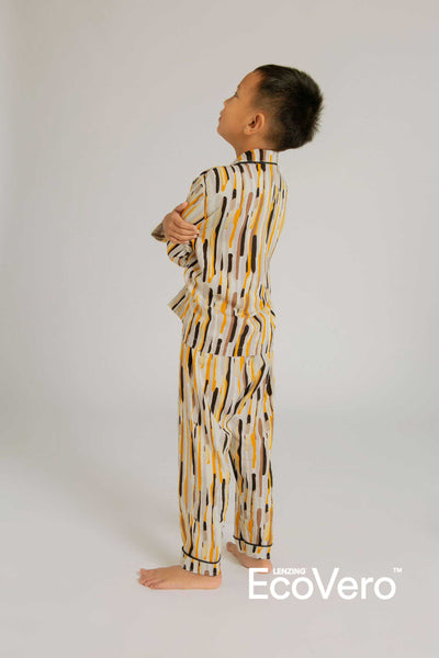 Praya Parigi Kids Rayon Long Sleeve Set in Camo