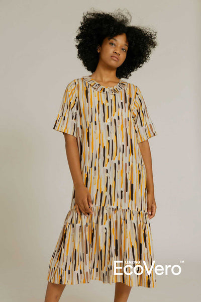 Bian Ruffle Collar Nightdress in Camo