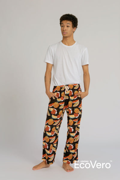 Parigi Men Pajama Pants in Black Fruit