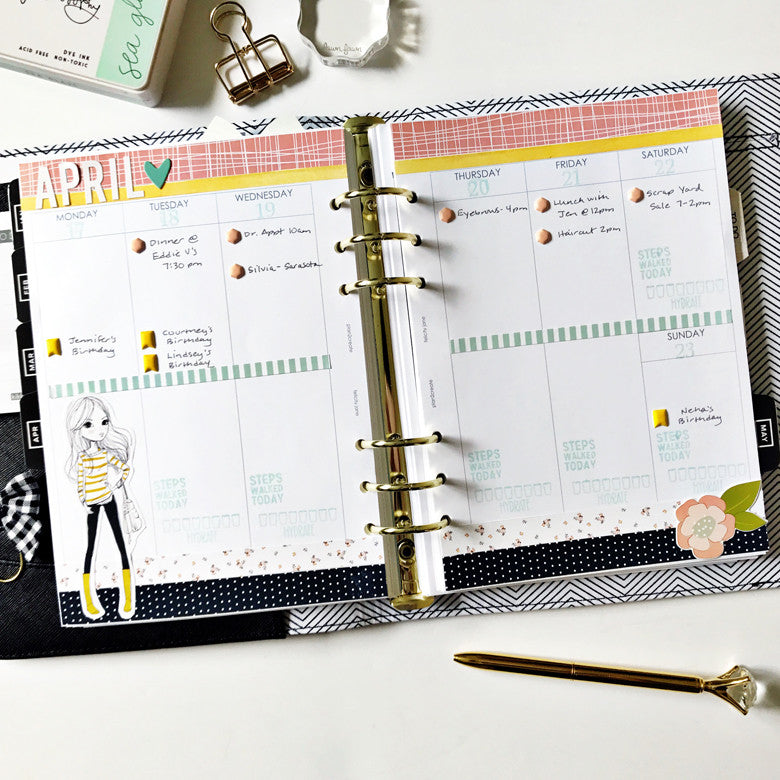 April Planner Spread | Anita Patel