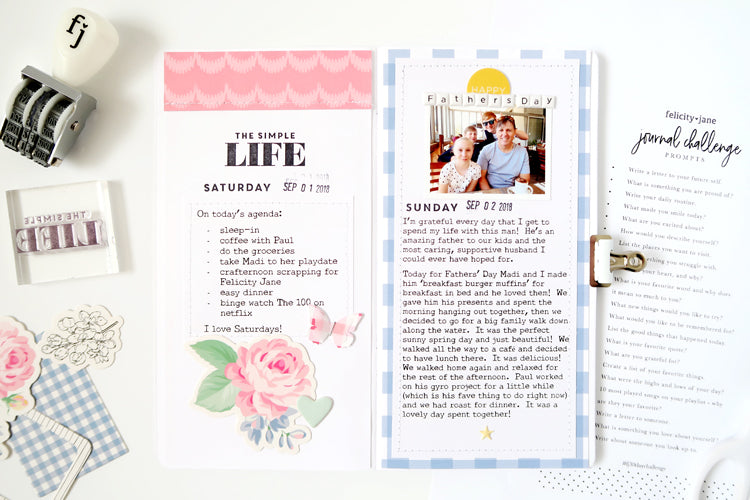 Journal Challenge - A Day In the Life and Father's Day | Sheree Forcier