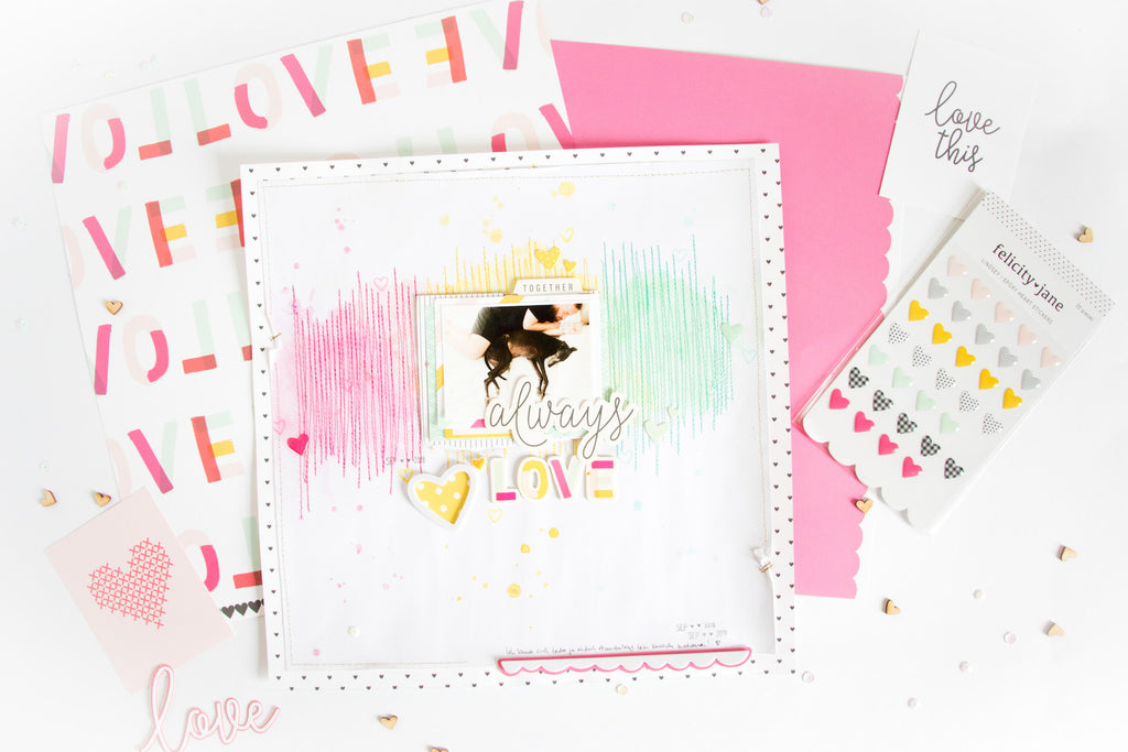 Always Love Layout with the Lindsey Kit | Kathleen Graumüller