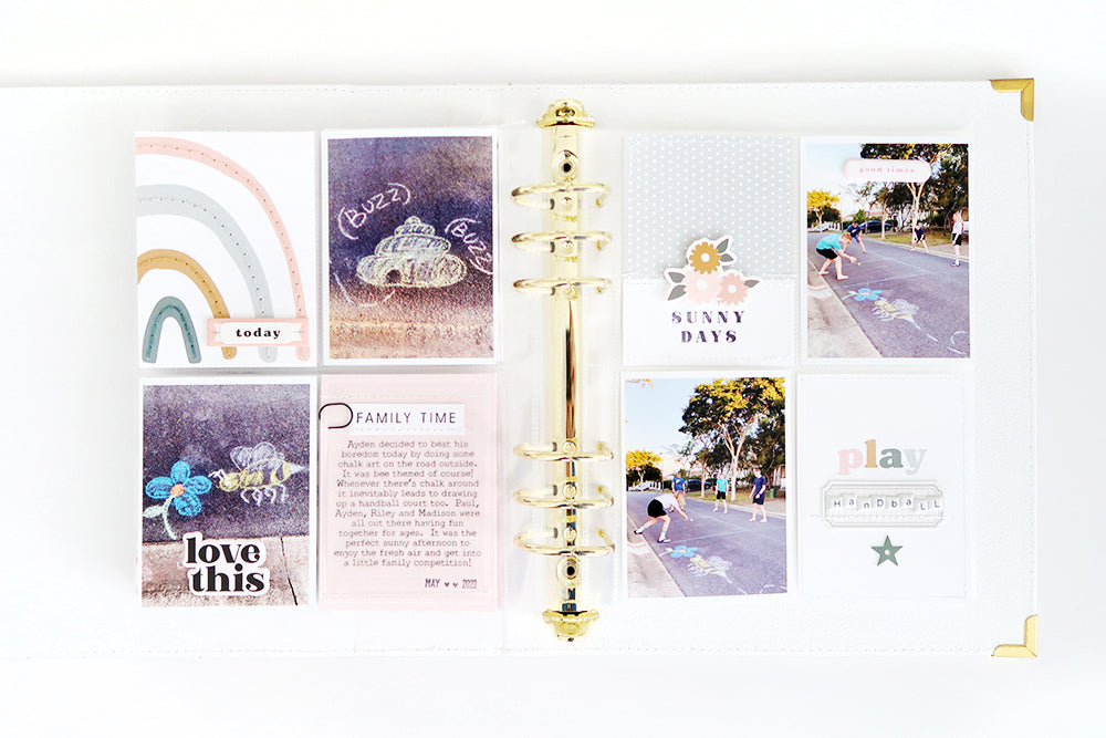 Amanda Kit Pocket Page Spread | Sheree Forcier
