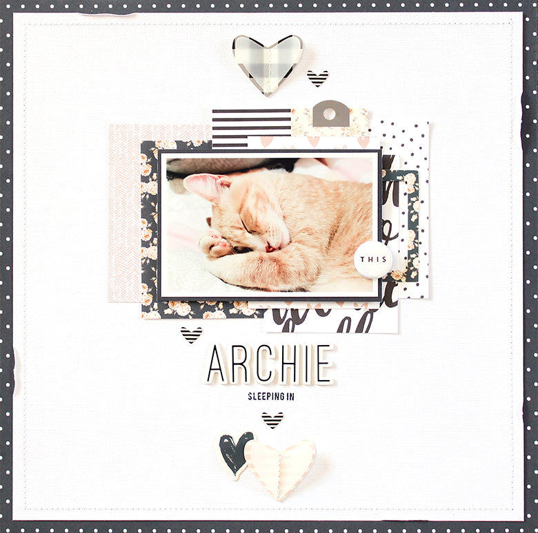 Archie Layout using the Reagan Kit | Mandy Melville