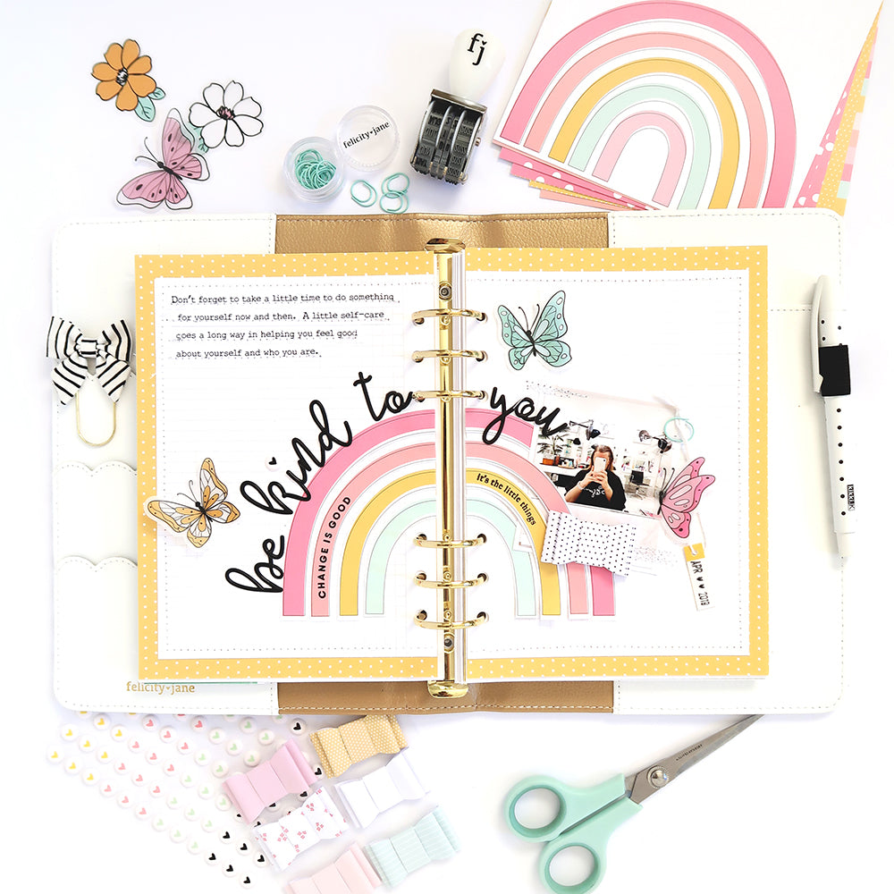 Be Kind to You Note to Self Binder Spread | Sheree Forcier