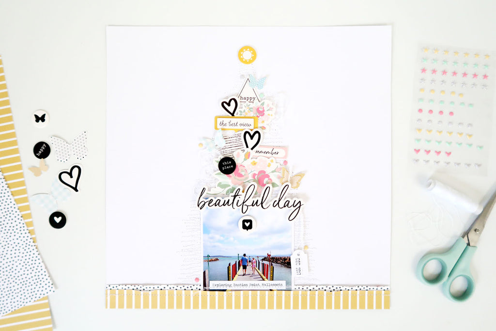 Beautiful Day Layout + Process Video | Sheree Forcier