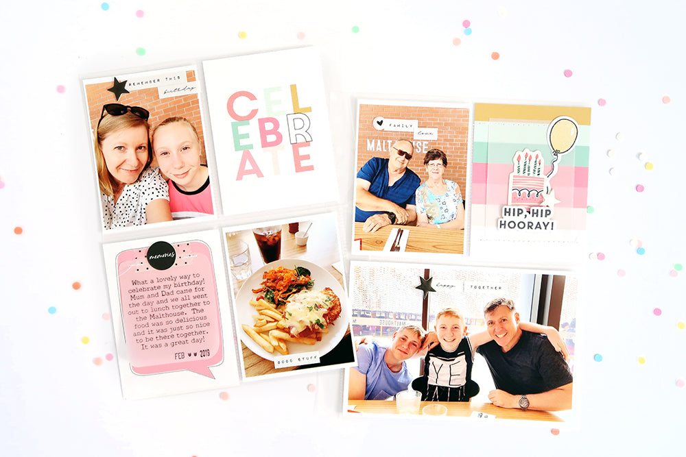 Celebrate Pocket Page Spread | Sheree Forcier