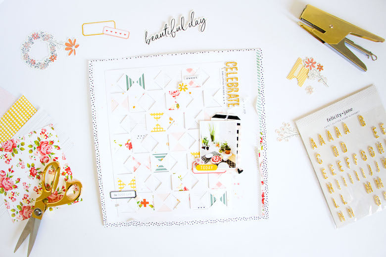 Celebrate the Little Things Layout | Kathleen Graumüller
