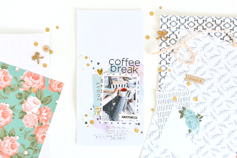 Coffee Break Scrapbook Layout | Suzanna Stein