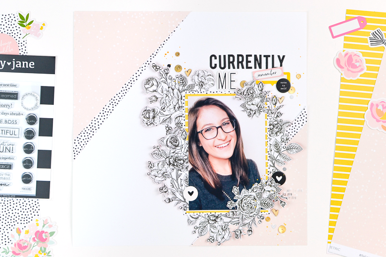 Currently Me Scrapbook Layout | Suzanna Stein
