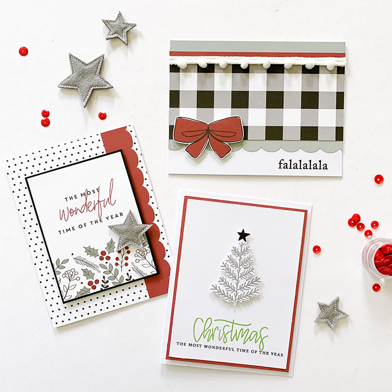 Christmas Cards with Holly Kit | Mandy Melville