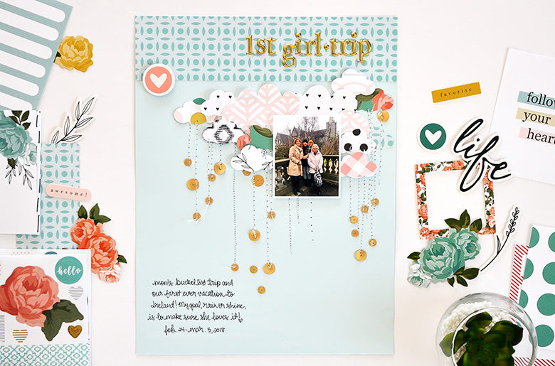 First Girl Trip Layout | Leigh Ann Odynski