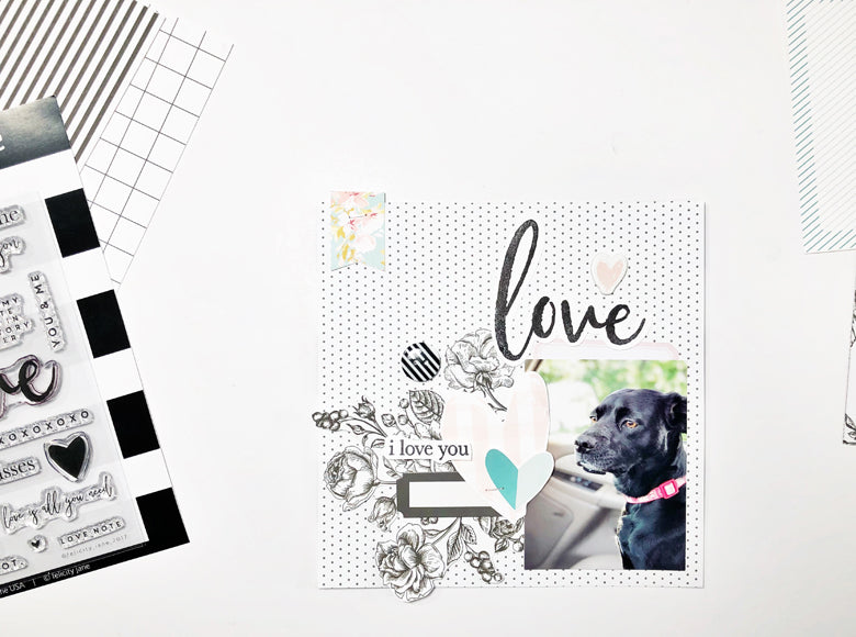 6 x 6 Love Note Layout | Andrea Gray