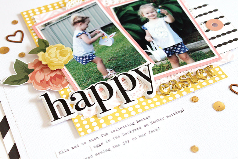 Happy Easter Layout | Mandy Melville