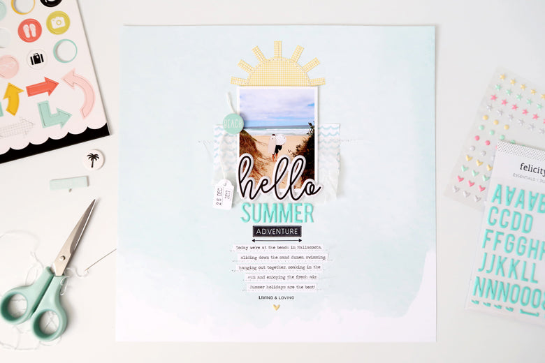 Hello Summer Layout | Sheree Forcier