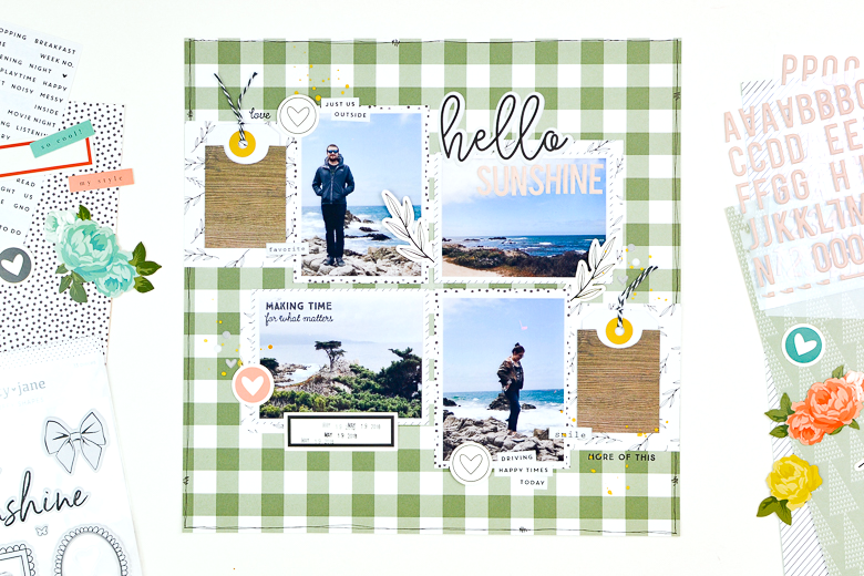 Hello Sunshine Scrapbook Layout | Suzanna Stein