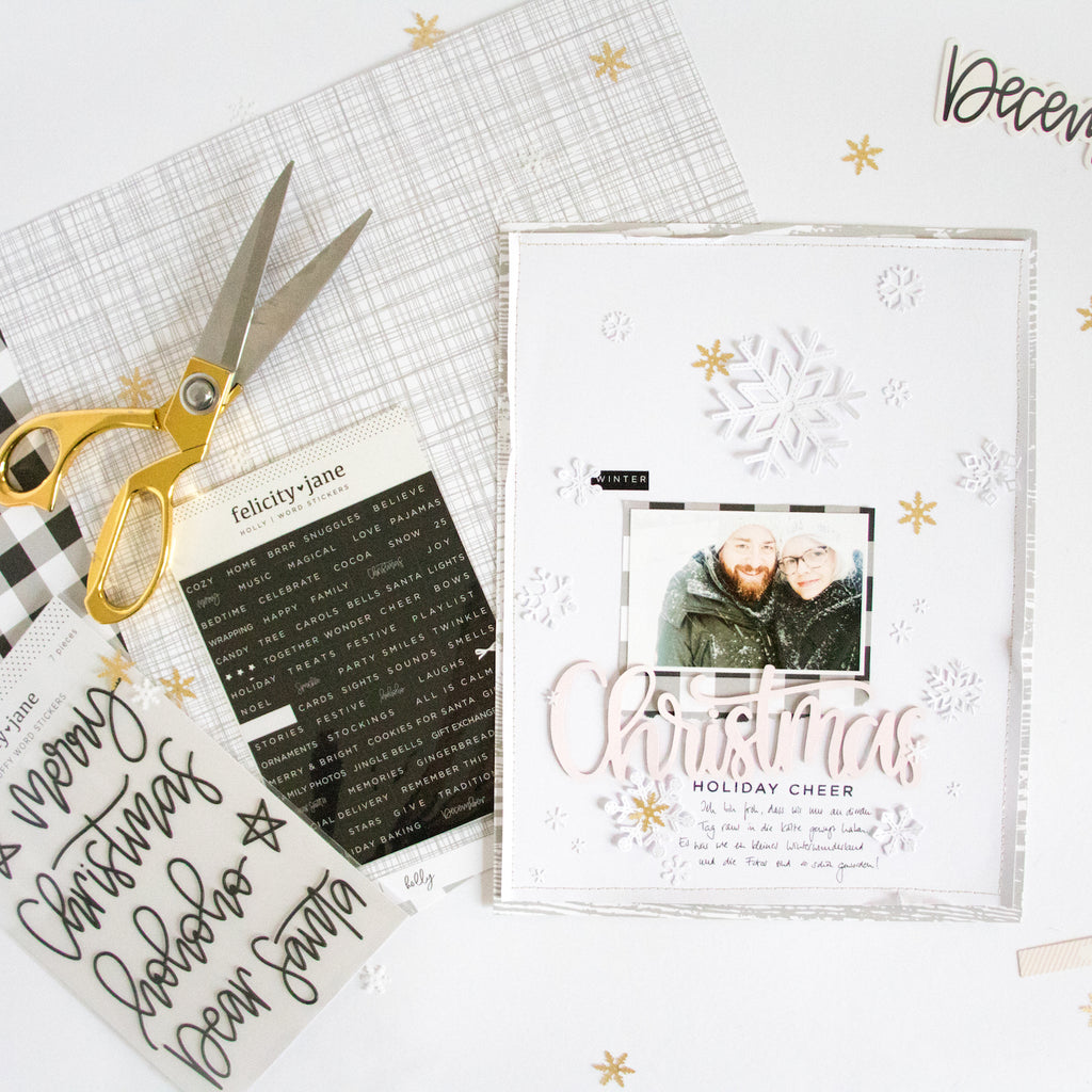 White on White Winter Layout | Kathleen Graumüller