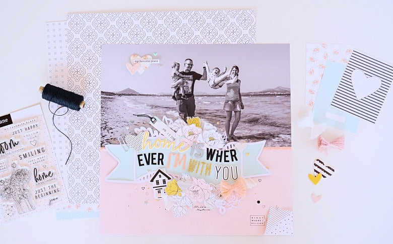 Home is Wherever I'm With You Layout | Ulrike Dold