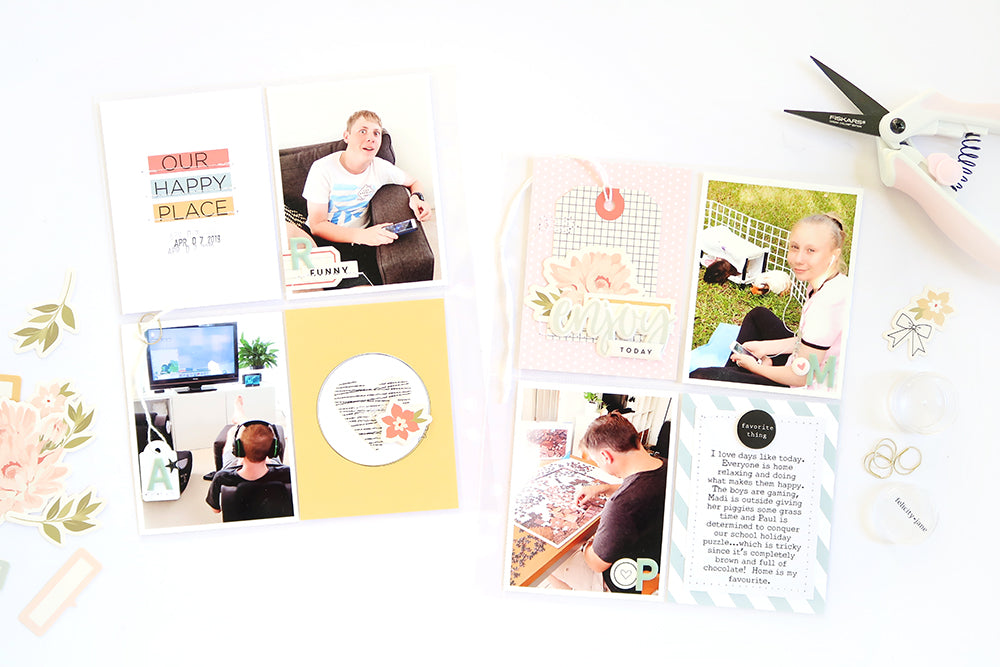 Our Happy Place Pocket Page Spread | Sheree Forcier