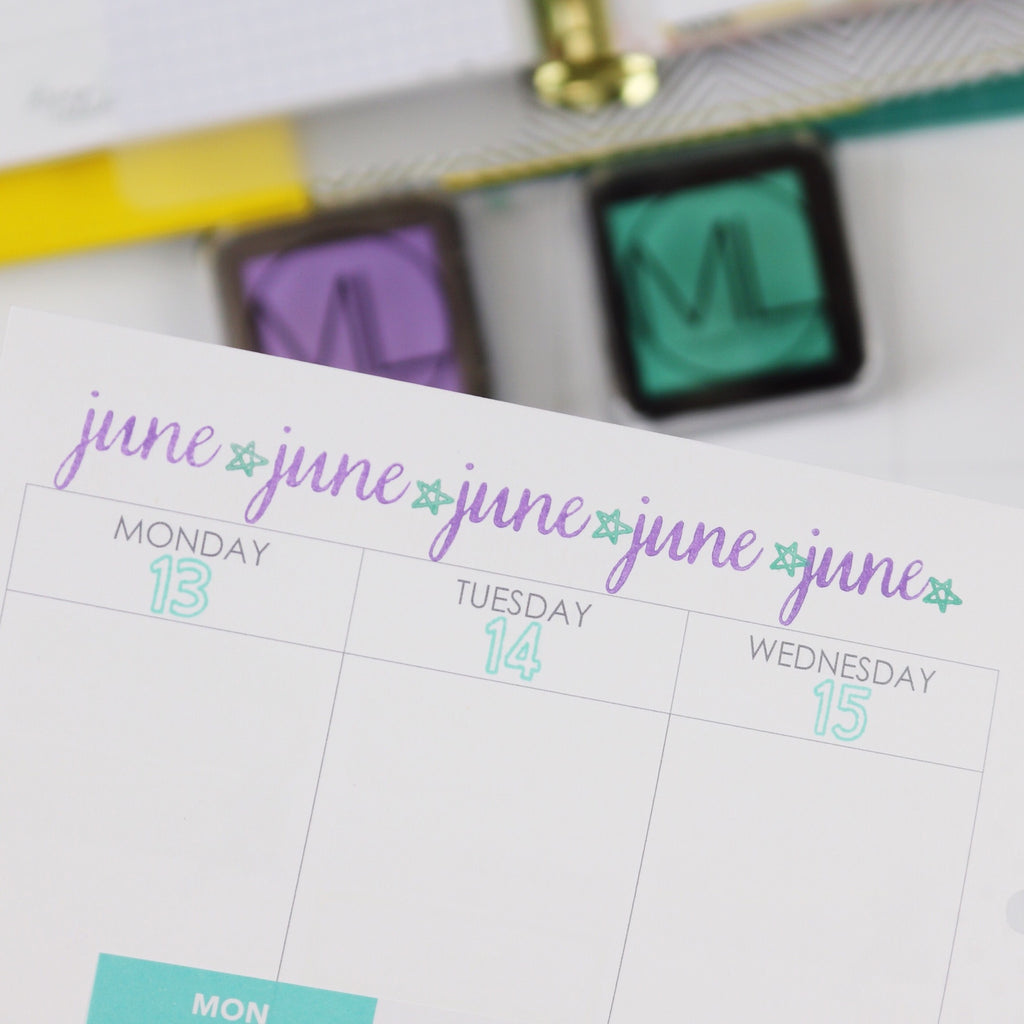 Date Stamps for Days | Julie Kinneeveauk
