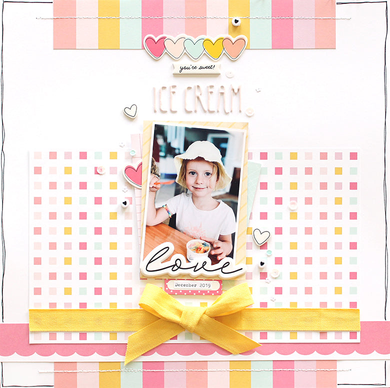 'Ice Cream Love' Layout using Bailey and Megan Kits | Mandy Melville