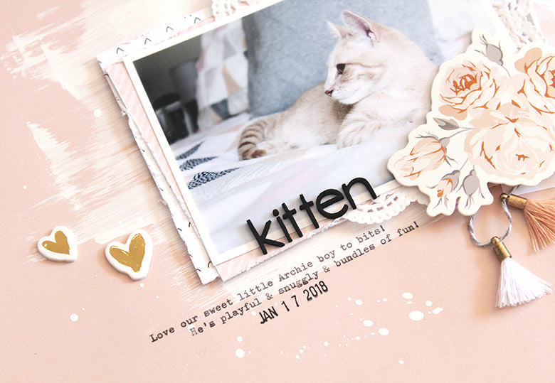 Kitten Layout | Mandy Melville