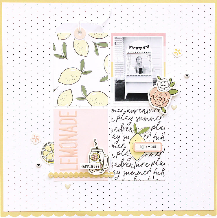 'Lemonade' Layout with the Elizabeth Kit | Mandy Melville