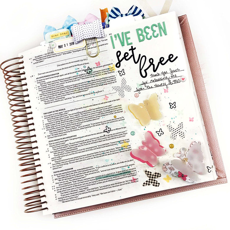 Bible Journaling Process | Set Free |  Lindsey Lanning