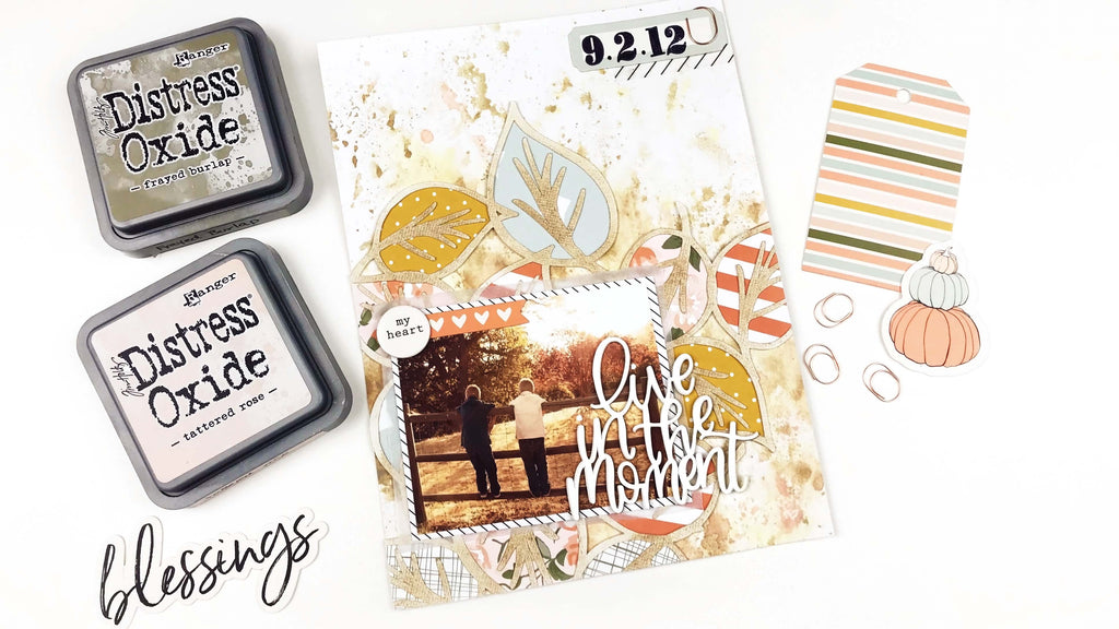 Leaves Background Cut File | 6x8 Layout | Lindsey Lanning