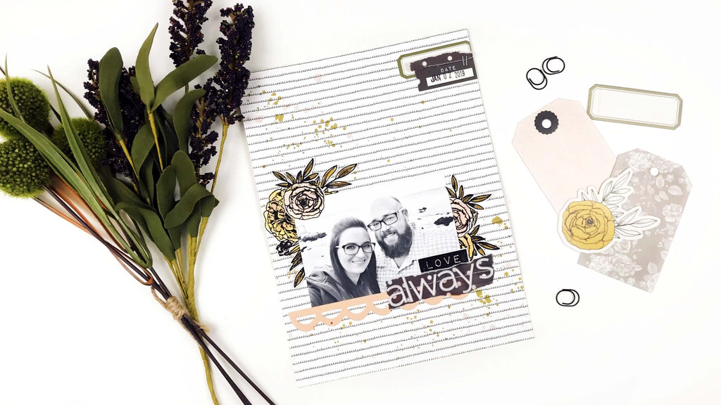 6x8 Layout | Love Always |  Lindsey Lanning