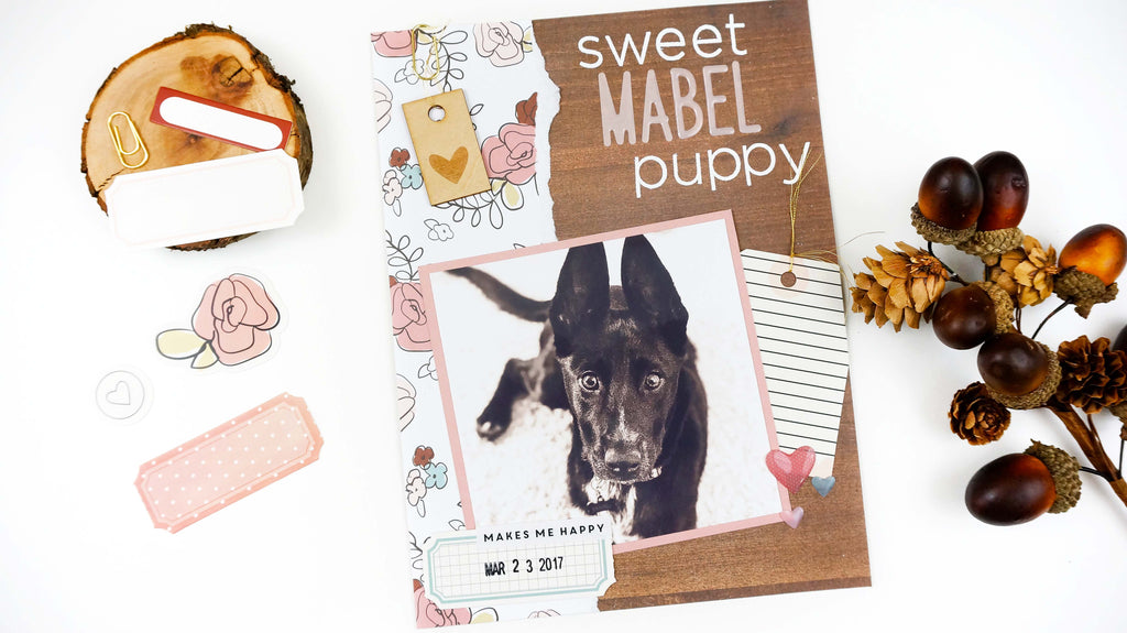 Sweet Mabel Puppy | 6x8 Layout | Lindsey Lanning