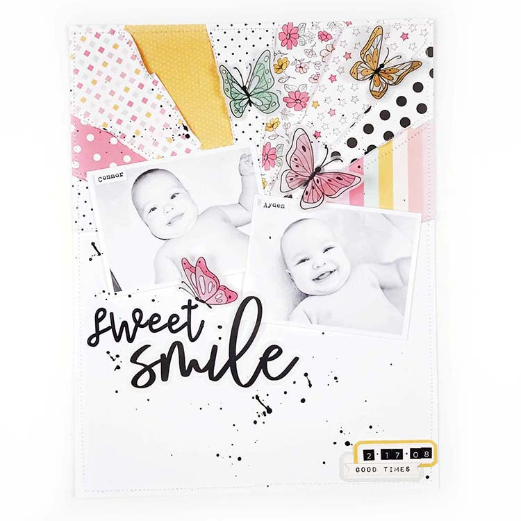 8.5x11 Layout | Sweet Smiles |  Lindsey Lanning