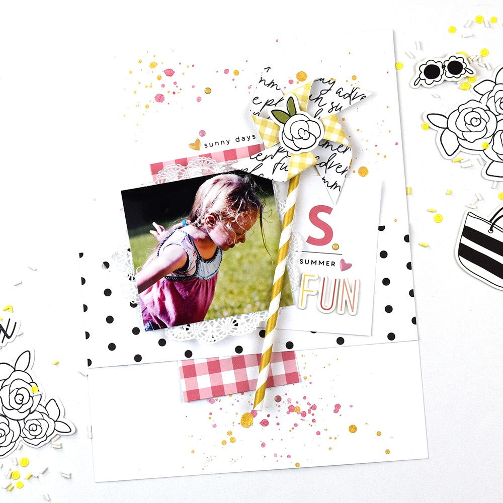 Summer Fun Layout using the Elizabeth Kit | Lorilei Murphy