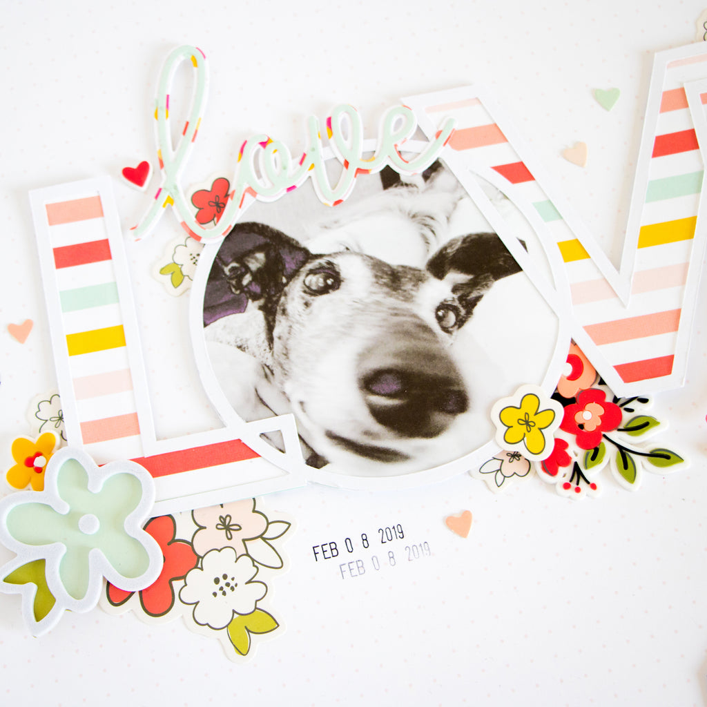 LOVE Layout with the Lindsey Kit | Kathleen Graumüller